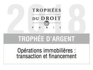Trophée Argent opération immo 2018